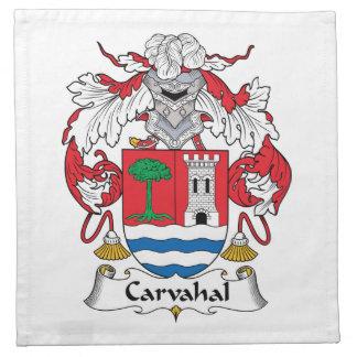 Escudo de la familia de Carvahal Servilletas Imprimidas