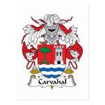 Escudo de la familia de Carvahal Tarjeta Postal