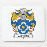 Escudo de la familia de Carvalho Alfombrillas De Ratones