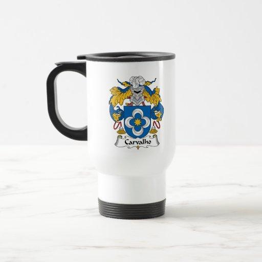 Escudo de la familia de Carvalho Taza De Café