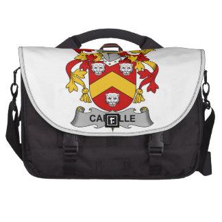 Escudo de la familia de Carville Bolsas Para Portatil