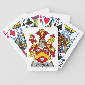 Escudo de la familia de Carville Cartas De Juego