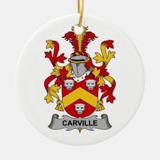 Escudo de la familia de Carville Ornamento De Reyes Magos