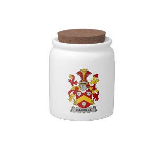Escudo de la familia de Carville Jarra Para Caramelo