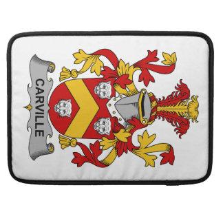 Escudo de la familia de Carville Funda Macbook Pro