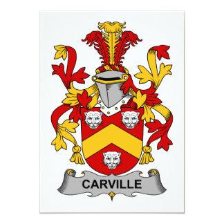 """Escudo de la familia de Carville Invitación 5"""" X 7"""""""
