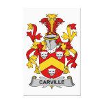 Escudo de la familia de Carville Impresión De Lienzo
