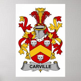 Escudo de la familia de Carville Impresiones