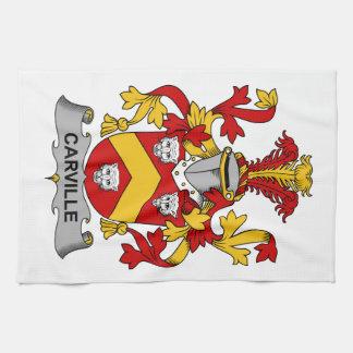 Escudo de la familia de Carville Toalla