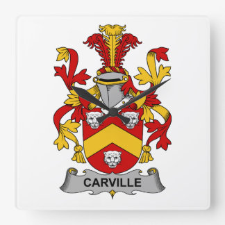 Escudo de la familia de Carville Relojes
