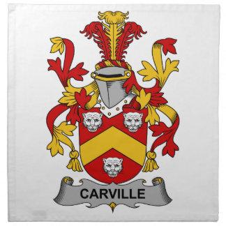 Escudo de la familia de Carville Servilletas