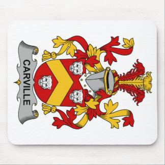 Escudo de la familia de Carville Tapete De Ratón