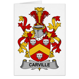 Escudo de la familia de Carville Tarjetón