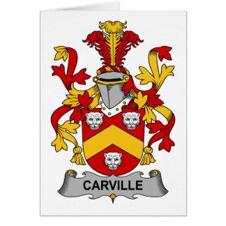 Escudo de la familia de Carville Tarjeta De Felicitación