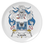 Escudo de la familia de Casals Plato De Cena