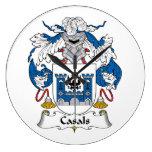 Escudo de la familia de Casals Reloj De Pared