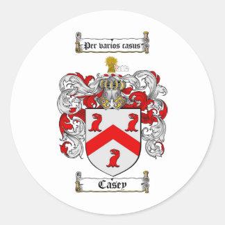 ESCUDO DE LA FAMILIA DE CASEY - ESCUDO DE ARMAS DE PEGATINAS