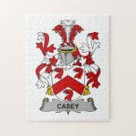 Escudo de la familia de Casey Rompecabeza Con Fotos