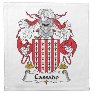 Escudo de la familia de Cassado Servilletas