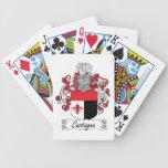 Escudo de la familia de Castagna Baraja Cartas De Poker