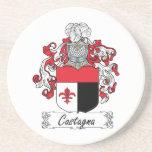 Escudo de la familia de Castagna Posavasos Diseño