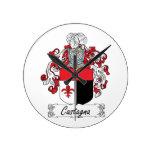 Escudo de la familia de Castagna Relojes De Pared