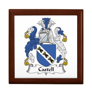 Escudo de la familia de Castell Caja De Regalo