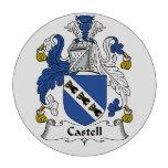 Escudo de la familia de Castell Juego De Fichas De Póquer