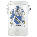 Escudo de la familia de Castell Vaso Enfriador Igloo