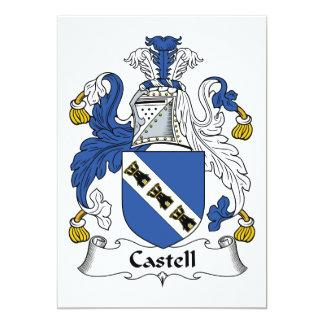"""Escudo de la familia de Castell Invitación 5"""" X 7"""""""