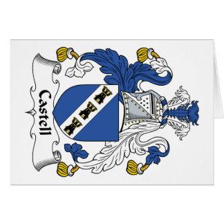 Escudo de la familia de Castell Tarjeta De Felicitación