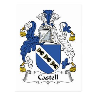 Escudo de la familia de Castell Tarjetas Postales