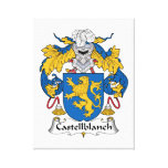 Escudo de la familia de Castellblanch Lona Estirada Galerías