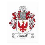 Escudo de la familia de Castelli Tarjeta Postal