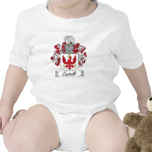 Escudo de la familia de Castelli Traje De Bebé