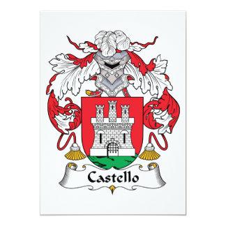 """Escudo de la familia de Castello Invitación 5"""" X 7"""""""