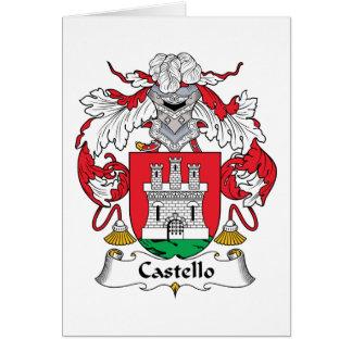 Escudo de la familia de Castello Tarjeta De Felicitación