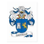 Escudo de la familia de Castello Tarjetas Postales