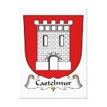 Escudo de la familia de Castelmur Impresión En Lienzo Estirada