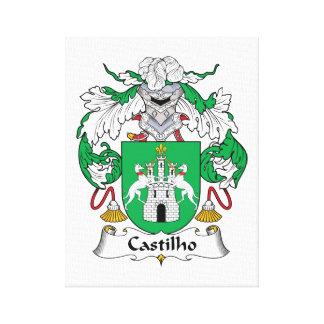Escudo de la familia de Castilho Impresión En Lienzo Estirada