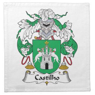Escudo de la familia de Castilho Servilleta Imprimida