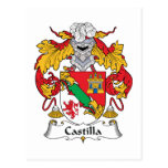 Escudo de la familia de Castilla Postal