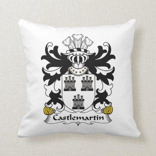 Escudo de la familia de Castlemartin Cojin