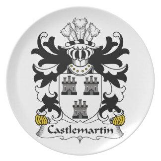 Escudo de la familia de Castlemartin Plato