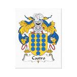 Escudo de la familia de Castro Lona Envuelta Para Galerias