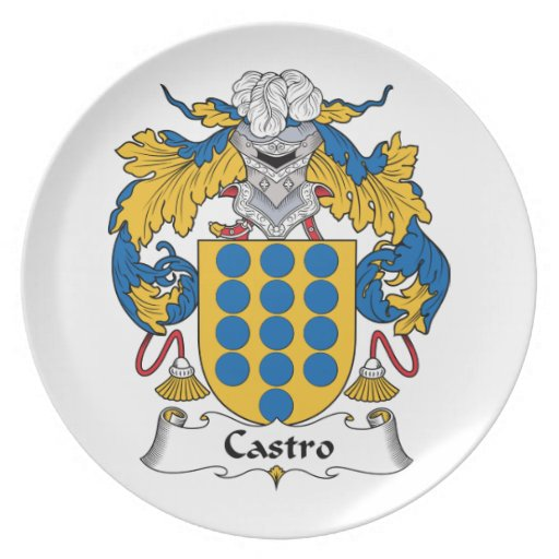 Escudo de la familia de Castro Platos Para Fiestas