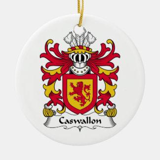 Escudo de la familia de Caswallon Adorno Redondo De Cerámica
