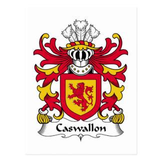 Escudo de la familia de Caswallon Postal