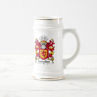 Escudo de la familia de Caswallon Tazas De Café