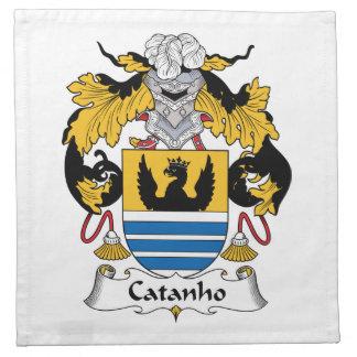 Escudo de la familia de Catanho Servilletas Imprimidas